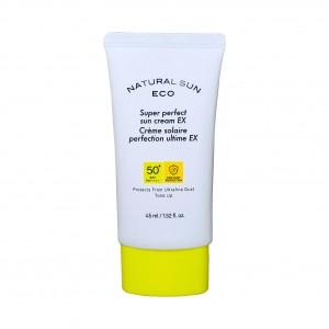Крем солнцезащитный увлажняющий Natural Sun Eco Super Perfect Sun Cream EX  SPF50/PA++++ The Face Shop