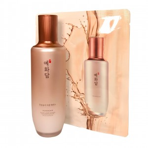 Сыворотка антивозрастная для лица 75 мл в наборе с масками-салфетками Yehwadam Heaven Grade Ginseng Rejuvenation Serum The Face Shop