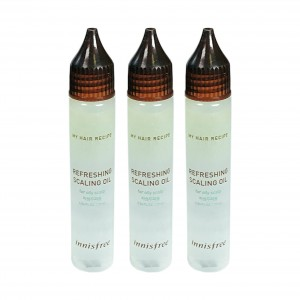 Очищающие ампулы для жирной кожи головы Refreshing Scaling Oil Innisfree