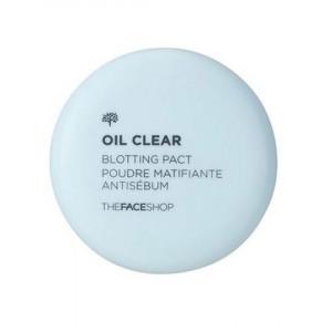 Пудра компактная против жирного блеска Oil Clear Blootting Pact The Face Shop