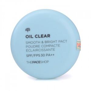 Пудра компактная против жирного блеска Oil Clear Smooth&Bright Pact The Face Shop