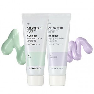 База под макияж Air Cotton Make-Up Base SPF 30 The Face Shop
