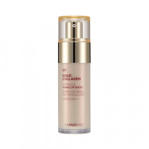База под макияж с коллагеном Gold Collagen Ampoule Make-Up Base The Face Shop
