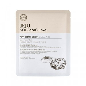 Маска-салфетка для лица Jeju Volcanic Lava Clay Face Mask The Face Shop