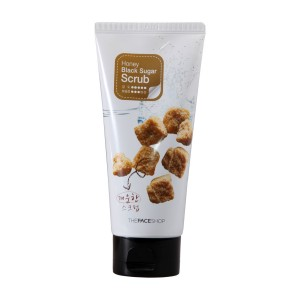 Деликатный пилинг-скраб с черным сахаром Honey Black Sugar Scrab The Face Shop