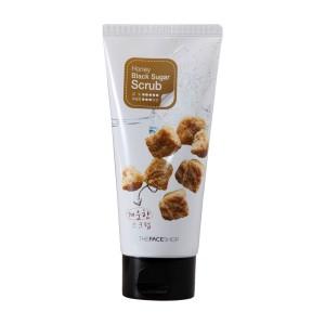 Деликатный пилинг-скраб с черным сахаром Honey Black Sugar Scrab The Face Shop