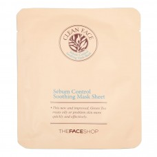 Маска-салфетка Sebum Control Soothing Mask Sheet TheFaceShop