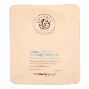Маска-салфетка для лица Sebum Control Soothing Mask Sheet The Face Shop